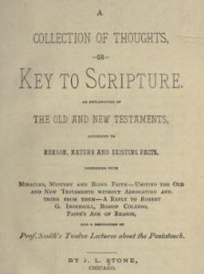 a collection of thoughts; or, key to scripture by j. l. stone