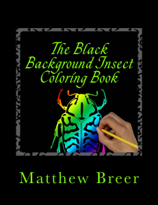 the black background insect coloring book pdf