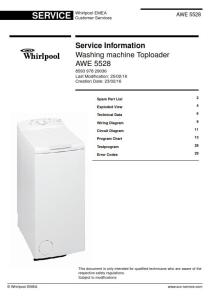 Whirlpool AWE 5528 Washing Machine Service Manual   eBooks   Technical