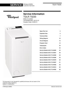 whirlpool tdlr 70230 washing machine service manual