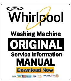 whirlpool tdlr 70231 washing machine service manual