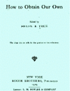 How to Obtain Our Own: An Anthology by Helen Bell True | eBooks | Self Help