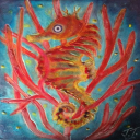 Encaustic Seahorse | Photos and Images | Nature