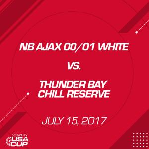 girls u17: nb ajax 01/00 white v. thunder bay chill reserve