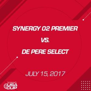 boys u15: synergy 02 premier v. de pere select