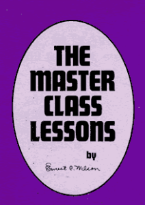 the master class lessons by ernest c. wilson