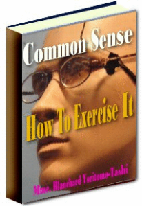 common sense: how to exercise it by yoritomo-tashi