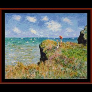 Walk at Pourville - Monet cross stitch pattern by Cross Stitch Collectibles | Crafting | Cross-Stitch | Wall Hangings