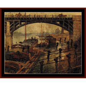 Coal Dockers - Monet cross stitch pattern by Cross Stitch Collectibles | Crafting | Cross-Stitch | Wall Hangings