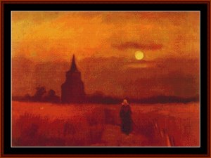 Old Tower in the Fields, 1884 - Van Gogh cross stitch pattern by Cross Stitch Collectibles   Crafting   Cross-Stitch   Wall Hangings