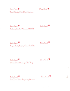 love cards set of 10