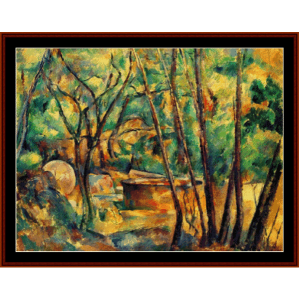 Cistern Under Trees - Cezanne cross stitch pattern by Cross Stitch Collectibles | Crafting | Cross-Stitch | Wall Hangings