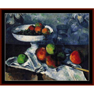 Still Life with Apples - Cezanne cross stitch pattern by Cross Stitch Collectibles | Crafting | Cross-Stitch | Wall Hangings