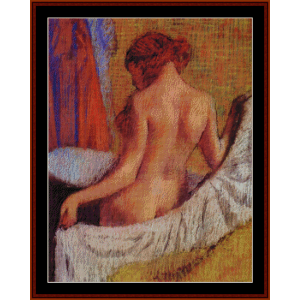 after the bath iv - degas cross stitch pattern by cross stitch collec tib les