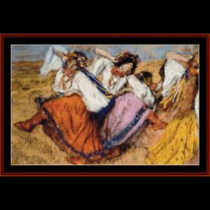 Russian Dancers - Degas cross stitch pattern by Cross Stitch Collectibles | Crafting | Cross-Stitch | Wall Hangings