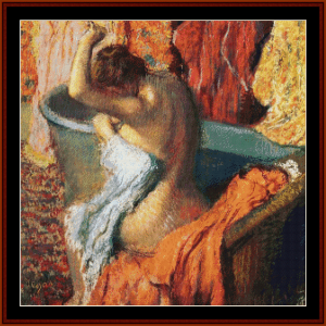 Seated Bather, 1899 - Degas cross stitch pattern by Cross Stitch Collectibles | Crafting | Cross-Stitch | Wall Hangings