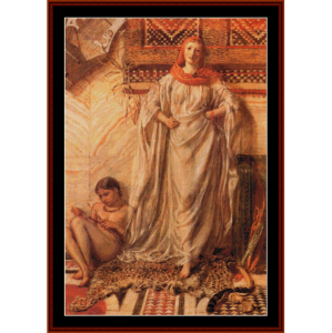 dancing girl resting, 1864 - aj moore cross stitch pattern by cross stitch collectibles