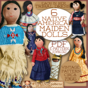 american indian maidens doll pattern 1960s