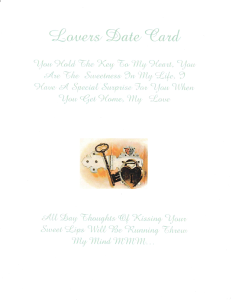 lovers date card