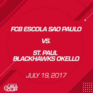 boys u13 gold: fcb escola sao paulo v. st. paul blackhawks okello
