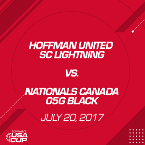girls u12 11v11: hoffman united sc lightning v. nationals canada 05g black