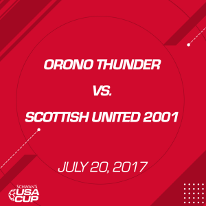 girls u16 gold: orono thunder v. scottish united 2001