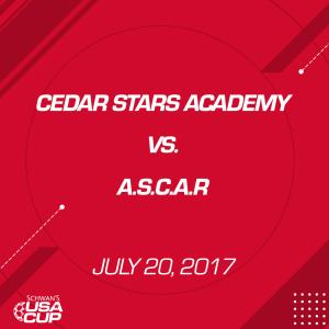 boys u17 gold: cedar stars academy v. a.s.c.a.r