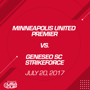 girls u15 gold: minneapolis united premier v. geneseo sc strikeforce