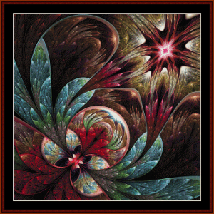 fractal 625 cross stitch pattern by cross stitch collectibles