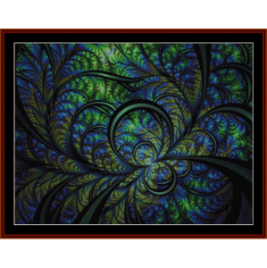 fractal 629 cross stitch pattern by cross stitch collectibles