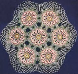 vintage beaded doily pattern