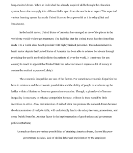 the american dream research paper 3 pages