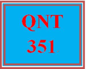 qnt 351 week 3 measuring salespeople performance