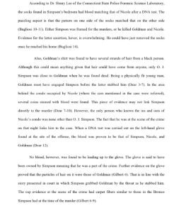 oj simpson murder case 5 pages