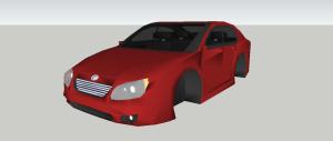 sketchup tutorial - car (kia spectra)