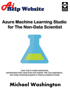 Azure Machine Learning Studio For The Non-Data Scientist | eBooks | Internet