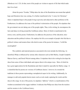 geoffrey philp essay 4 pages