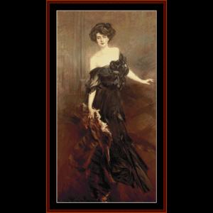 Mademoiselle de Nemidoff - Boldini cross stitch pattern by Cross Stitch Collectibles | Crafting | Cross-Stitch | Wall Hangings