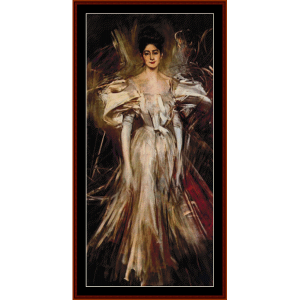Madame de Florian II - Boldini cross stitch pattern by Cross Stitch Collectibles | Crafting | Cross-Stitch | Wall Hangings