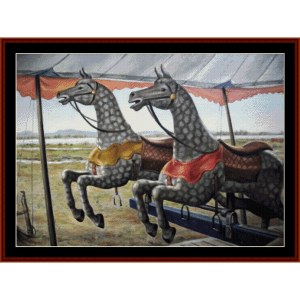 riderless race - h.c. carter cross stitch pattern by cross stitch collectibles