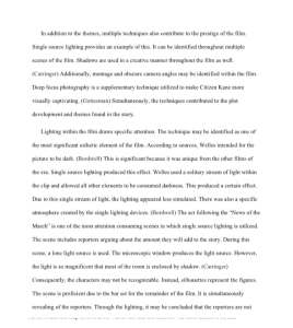 3 page paper on citizen kane