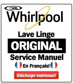 whirlpool awe 5528 manuel de service lave-linge