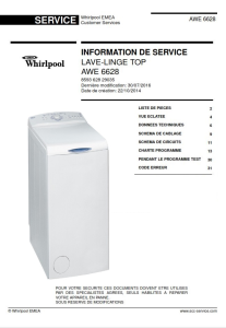 Whirlpool AWE 6628 Manuel de service Lave-linge | eBooks | Technical