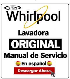 whirlpool tdlr 65210 lavadora manual de servicio