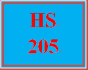 HS 205 Week 5 Final Course Reflection | eBooks | Education