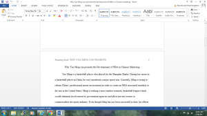 write a cause/effect essay about yao ming
