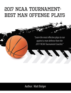 2017 ncaa tournament - best man offense playbook
