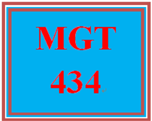 MGT 434 Entire Course   eBooks   Education