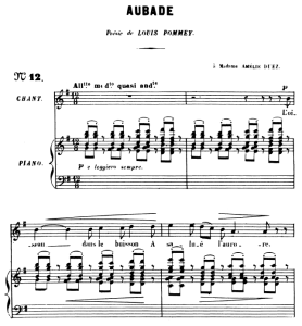 Aubade Op.6 No 1, High Voice in G Major, G. Fauré. For Soprano or Tenor. Ed. Leduc (A4) | eBooks | Sheet Music