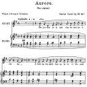 Aurore Op.39 No.1, High Voice in G Major, G. Fauré. For Soprano or Tenor. Ed. Leduc (A4) | eBooks | Sheet Music